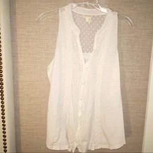 Anthropologie Meadow Rue Large White Crochet Lace